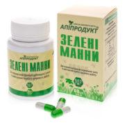 Зеленые манны 60 кап (пыльца, спирулина, эламин, инулин)